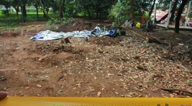 Sebidang tanah di RT 17/04 Perumahan Batan Indah, Setu, Kota Tangerang Selatan yang mengandung radioaktif