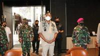 Gubernur Sulut Olly Dondokambey bersama jajaran Forkopimda menyambangi Gereja Mawar Sharon Manado, Kamis (25/6/2020).