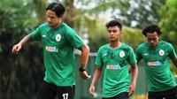 Irfan Bachdim mulai berlatih kembali dengan timmya PSS Sleman. (Dok PSS Sleman)