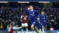 Selebrasi pemain Chelsea Mason Mount saat mengalahkan Aston Villa (AP)