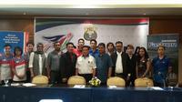 Konferensi pers Kejuaraan Nasional PBSI 2015 di Hotel Sultan, Jakarta, Senin (7/12/2015). (Bola.com / Imelia Pebreyanti)