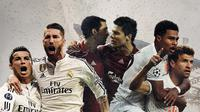 Real Madrid, Liverpool dan Bayern Munchen. (Bola.com/Dody Iryawan)