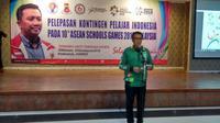 Menteri Pemuda dan Olahraga RI, Imam Nahrawi, melepas Kontingen Indonesia untuk bertanding di Asean School Games, di Wisma Kemenpora, Selasa (17/7) petang. (Istimewa)
