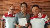 Produk Indonesia, Antangin, menjalin kerja sama dengan tim Moto2, Gresini Racing. (Bola.com/Gresini Racing)