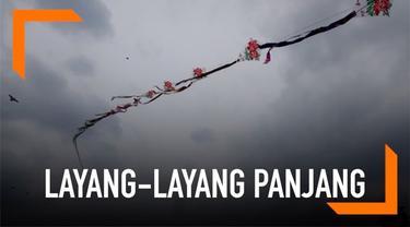 Layang-layang dengan panjang 700 meter diterbangkan oleh seorang pria di China. Pria tersebut membuatnya selama dua bulan.