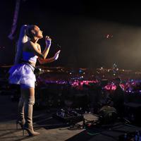 Ariana Grande saat tampil di Coachella pada (20/4/2018) (Foto: AFP / Christopher Polk / GETTY IMAGES NORTH AMERICA)