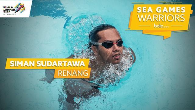 """Berita video """"SEA Games Warriors"""" kali ini menampilkan salah satu perenang andalan Indonesia, Siman Sudartawa."""
