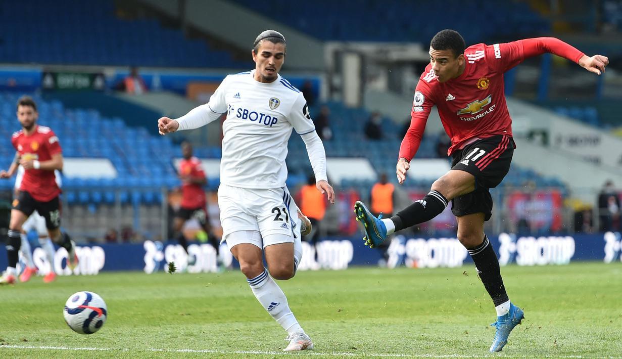Manchester United mendominasi pertandingan dengan melepaskan 16 tembakan namun hanya empat yang mengenai sasaran. (Foto: AFP/Pool/Peter Powell)