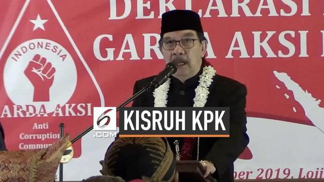 Mantan Ketua KPK Antasari Azhar menyebut komisioner tidak dewasa karena menyerahkan KPK kembali kepada Presiden Jokowi, usai terpilihnya Firli Bahuri sebagai Ketua KPK yang baru.