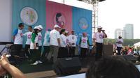 Kepala Staf Kepresidenan Moeldoko mengkampanyekan pencegahan stunting (Liputan6.com/Hanz Jimenez)