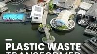 Pulau plastik di Pantai Gading, Afrika. (dok Instagram @get.waste.ed/https://www.instagram.com/p/B6TmZ4rHOJ-//Adhita Diansyavira)
