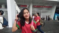 Suporter cantik Timnas Indonesia, Adelia (Cakrayuri Nuralam)