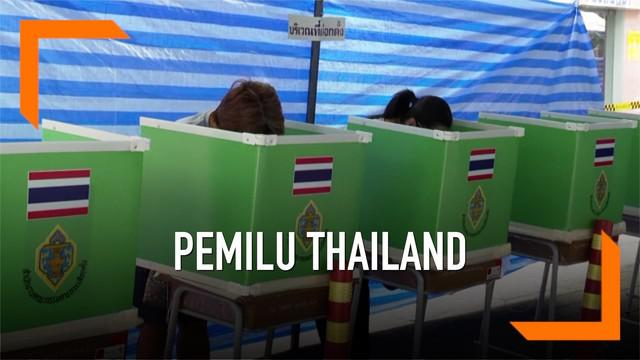 Hasil perhitungan suara pemilu di Thailand secara mengejutkan tempatkan partai Pro-Militer unggul sementara.