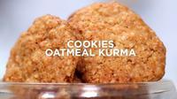 Jelang lebaran, salah satu yang tak boleh dilupakan adalah menyiapkan kue untuk sajian para tamu. Cobalah membuat cookies oatmeal kurma. (dok. Masak.tv/Dinny Mutiah)