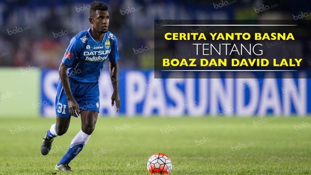Bek Persib Bandung bercerita tentang striker Persipura, Boaz Solossa dan rekan setimnya David Laly.