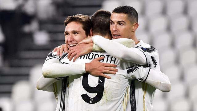 Foto Liga Champions: Juventus Hajar Dynamo Kiev Tiga Tanpa Balas