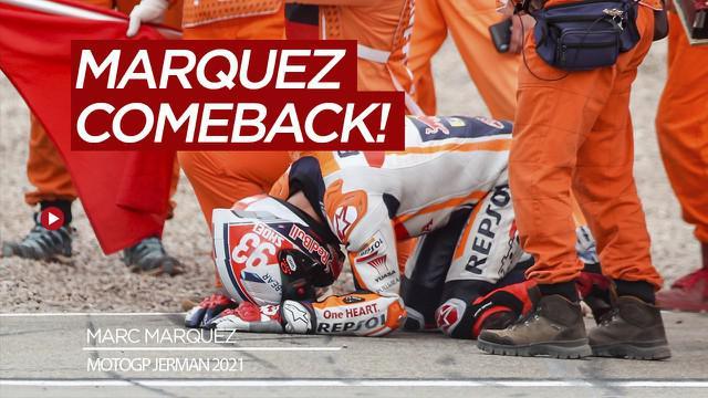 Berita video hasil balapan MotoGP Jerman 2021, Marc Marquez juara kalahkan Miguel Oliveira dan Fabio Quartararo, Minggu (20/6/21)