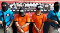 Sindikat perdagangan anak yang ditangkap Polres Bandara Soekarno Hatta, Kota Tangerang. (Liputan6.com/Pramita Tristiawati)