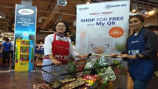 Direktur BRI Handayani saat acara shop for free with MY QR (Foto:Liputan6.com/Ilyas I)
