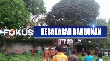 Salah satu bangunan di kampus IISIP Jakarta terbakar diduga karena puntung rokok yang dibuang sembarangan.