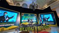 Kamar Dagang dan Industri (Kadin) Surabaya menggelar program Sambung Rasa Bersama Calon Pemimpin Surabaya yang dihadiri Calon Wali Kota Eri Cahyadi dan Calon Wakil Wali Kota Armudji, Rabu, 14 Oktober 2020. (Foto: Liputan6.com/Dian Kurniawan)