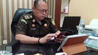 Kepala seksi Penerangan Hukum Kejati Sulsel, Salahuddin minta Kejari Palopo segera eksekusi terpidana korupsi kredit fiktif Luwu Raya jika amar putusan sudah diterima (Liputan6.com/ Eka Hakim)