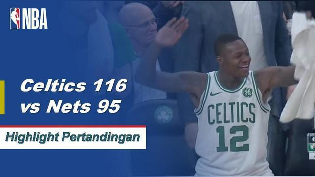 Eight Celtics mencetak angka ganda ketika Boston mengalahkan Brooklyn di kandang, 116 - 95.