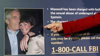 Pasangan Jeffrey Epstein dan Ghislaine Maxwell dicari FBI. Dok: AP Photo