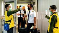 Upaya pencegahan penyebaran virus corona yang dilakukan PT Angkasa Pura II (Persero) bersama seluruh stakeholder di Bandara Soekarno-Hatta.