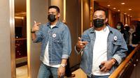 Bobby dan Aulia menuju lokasi debat kandidat putorna kedja Pilkada Medan
