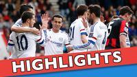 Video highlights Premier League antara Bournemouth melawan Chelsea yang berakhir dengan sko 1-4, Sabtu (23/4/2016) WIB.