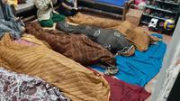 Satu keluarga tewas dalam kejadian kebakaran yang menghanguskan rumahnya di Tangerang. (Liputan6.com/Pramita Tristiawati)