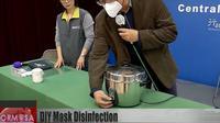 Masker Bekas Pakai Bisa Disterilkan dengan Rice Cooker. Dok: YoTube/Formosa TV English News