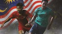 Ilustrasi - Saddil Ramdani dan Ryuji Utomo nuansa Liga Malaysia (Bola.com/Adreanus Titus)