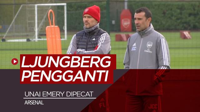 Berita video Arsenal resmi memecat Unai Emery dan menunjuk Freddie Ljungberg sebagai pengganti sementara, Jumat (29/11/2019).