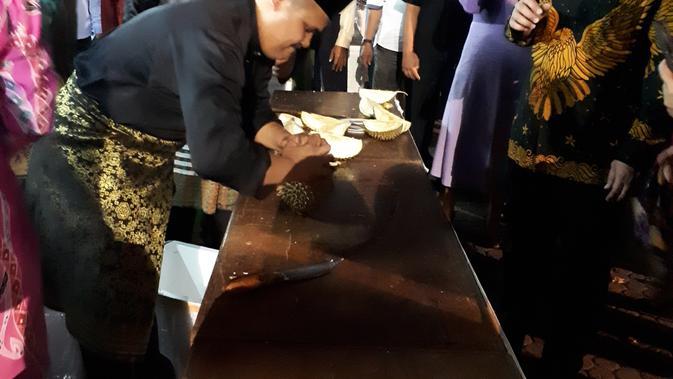Pesta durian 300 Kg di Kedutaan Malaysia. (Liputan6.com/Tanti Yulianingsih)