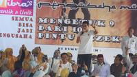 Sandiaga Uno berkampanye di Tangerang Selatan (Liputan6.com/Fachrur Rozie)