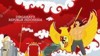 Ilustrasi ucapan kemerdekaan ke-76, Republik Indonesia. (Photo by YusufSangdes on Freepik)