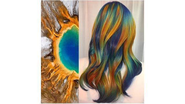 Kreasi Warna Rambut Ursula Goff (sumber: instagram/@uggoff)