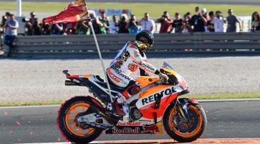 PHOTO: Finis di Urutan Ketiga, Marquez Sabet Juara Dunia MotoGP 2017