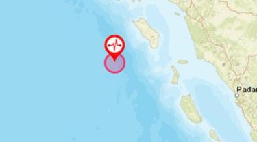 Gempa Magnitudo 7,2 di Nias. (Liputan6.com/ BNPB)