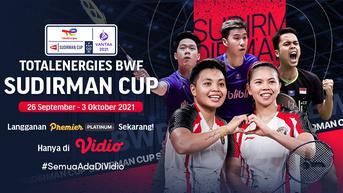 Piala Sudirman Cup 2021 : Tim Badminton Indonesia Siap Tempur di Finlandia, Saksikan Pertandingannya di Vidio