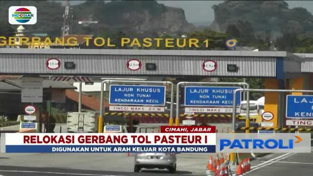Untuk mengurai kemacetan, PT Jasa Marga memindahkan gerbang Tol Pasteur I ke simpang susun Baros, Cimahi.