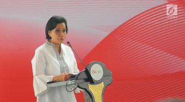 Sri Mulyani Letakkan Batu Pertama Pembangunan Indonesia Financial Center