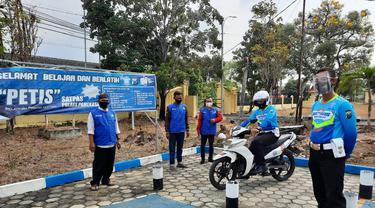 Pelatihan SIM Polres Pamekasan. (Dian Kurniawan/Liputan6.com)