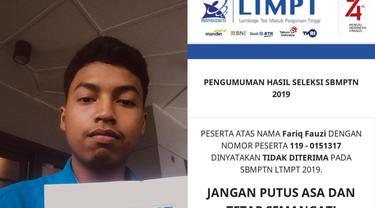 2 Kali Gagal SBMPTN, Pemuda Ini Berakhir Bahagia di Percobaan Ketiga dan Masuk ITB