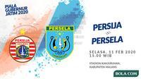 Piala Gubernur Jatim 2020: Persija Jakarta vs Persela Lamongan. (Bola.com/Dody Iryawan)