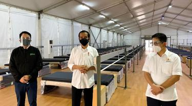 Presiden Jokowi meninjau kesiapan Rumah Oksigen Gotong Royong di Pulo Gadung, Jakarta Timur