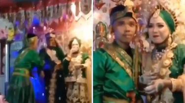 Aksi Kocak Pria Pakai Baju Persis Pengantin di Pernikahan Mantan