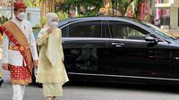 Presiden Joko Widodo atau Jokowi mengenakan baju adat Lampung saat Upacara Peringatan Detik-detik Proklamasi di halaman Istana Merdeka Jakarta, Selasa (17/8/2021). ( Biro Pers Sekretariat Presiden)